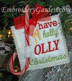 In The Hoop :: Candy & Treat Holders :: Holiday Candy Cane Holder - Embroidery Garden In the Hoop Machine Embroidery Designs