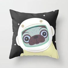 "Outer space pug - would be so cute if monogramed with ""love you to the moon and back"" or gamma phi swag!!!!! <3"