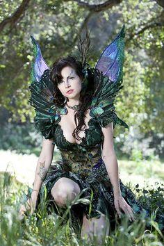 Peacock Fairy Fantasy Nymph Faeire Cosplay | Costume  make-up by Lillyxandra of http://Firefly-Path.net #camiseta #cosplayer 2#camisetagratis #cosplay #friki #regalos #ofertas #ropaoferta