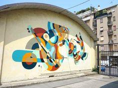 Reka creates a beautiful mural in Milan, Italy Art Gallery Barcelona, 2d Design, Graphic Design, Alternative Art, Australian Artists, Street Artists, Graffiti Art, Urban Art, Yorkie