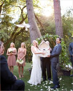 wedding dove release-  Doves symbolize love, peace, and unity. I've always wanted to do this @ my wedding!