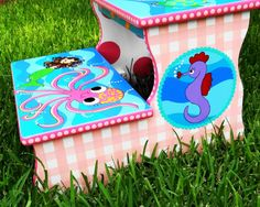 A Custom Painted Step Stool Just For You FREE by elliesshop, $195.00