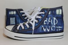d067c83a78f7 15% offThe Bad Wolf Doctor Who converse shoes Blue by LRsWorkshop ...