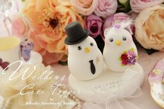love birds bride and groom Wedding Cake Topper by kikuike on Etsy, $100.00