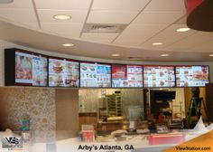 Arby's Atlanta, GA - ViewStation QSR by ITSENCLOSURES Drive Thru Digital Menu Boards #ViewStation