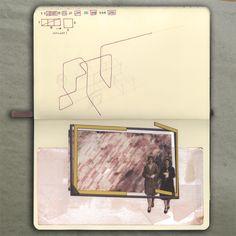 Window (sketch)_Moleskine (Ink, photo and paper), 2014_Mariasun Salgado