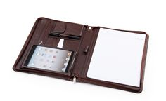 The iPad Mini Apple Padfolio uses the best features of a leather business portfolio and combines it with the relaxed demeanor of an iPad case. Description from icarryalls.com. I searched for this on bing.com/images