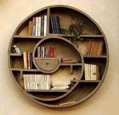 spiral book shelf