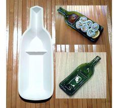 Snackndip / Sushi wine bottle slumping mold by dagutzwiller, $22.50