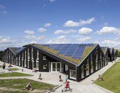 Arquitetura sustentável em escola primária na Dinamarca