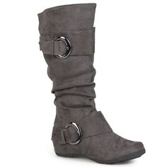 Journee Collection Jester Women's Knee-High Boots, Size: 7.5 M Xwc, Grey