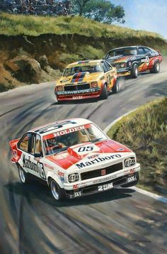 Peter Brock Painting - brocks Bathurst 1979 by Colin Parker Australian Muscle Cars, Aussie Muscle Cars, Sport Cars, Race Cars, F1 Posters, Holden Torana, Automobile, E Motor, Car Illustration