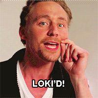 Thor and Loki kiss (GIF) by P0LAROID