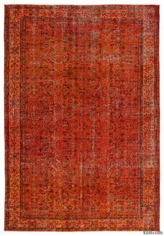 K0013768 Over-dyed Turkish Vintage Rug | Kilim Rugs, Overdyed Vintage Rugs, Hand-made Turkish Rugs, Patchwork Carpets by Kilim.com