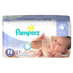 Pampers Gentle Care Baby Diapers (Select Size)