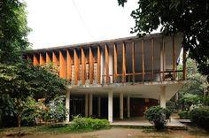 Muzharul Islam - Fine Arts Museum at Dhaka University, 1955. Via Arnout Fonck.