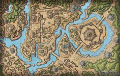 Fantasy City Map, Fantasy World Map, Forest Village, Village Map, Dnd World Map, Pen & Paper, Rpg Map, Dragon Rpg, Adventure Map