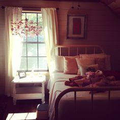 Vintage style girls room.