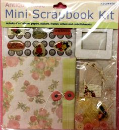 Colorbok Antique Rose Mini Scrapbook Kit is available at Scrapbookfare.com!