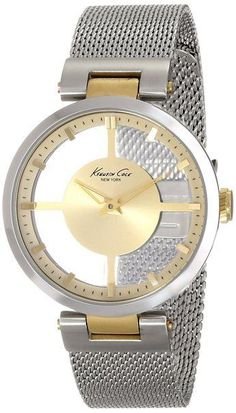 Kenneth Cole New York Women's KC4987 Transparency Round Yellow Gold Transparent  #KennethCole