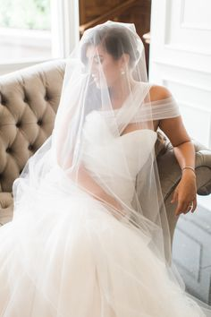Gorgeous bridal portrait: http://www.stylemepretty.com/ohio-weddings/2016/02/01/elegant-ohio-blush-ballroom-wedding/ | Photography: Lauren Gabrielle - http://laurengabrielle.com/