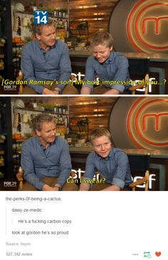 When his son was asked to do an impression of him and he was so proud. | 19 Times Gordon Ramsay Was Absolutely Iconic
