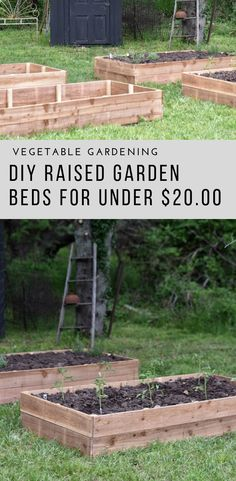 Learn how to make affordable cedar garden beds for your vegetable garden.