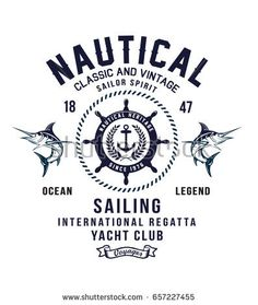 Vintage sailor typography for t-shirt print  b78ceb922e4