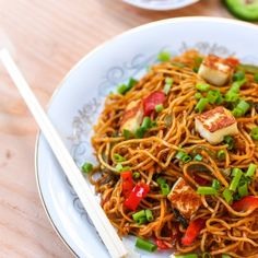 Spaghetti with Chinese sauce