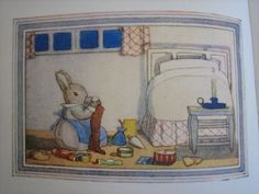 Little Grey Rabbit - Margaret Tempest Illustration.