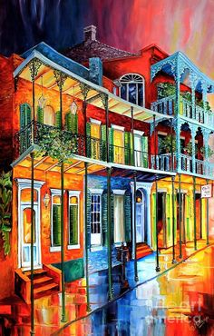 Colors Of The French Quarter Painting
