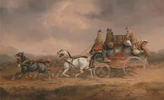 Mail Coaches, via 2Romance (Mail Coaches on the Road: the Louth-London Royal Mail progressing at Speed by Charles Cooper Henderson - Courtesy of Wikipedia http://en.wikipedia.org/wiki/File:Charles_Cooper_Henderson_-_Mail_Coaches_on_the_Road-_the_Louth-London_Royal_Mail_progressing_at_Speed_-_Google_Art_Project.jpg)