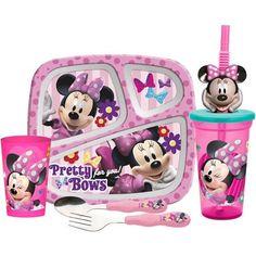 Zak! 5-Piece Minnie Mouse Mealtime Set - Minnie Mouse Birthday Party