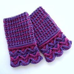 Pattern: Crochet Fingerless Gloves In Post Stitches. Three different post stitches are used, which creates a thick fabric, so it's important to use soft yarn. By Jolanta Gustafsson.  http://woolenmitten.weebly.com/uploads/7/4/3/8/7438104/2172727_orig.jpg http://woolenmitten.weebly.com/uploads/7/4/3/8/7438104/9149321_orig.jpg