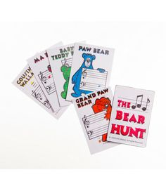 Music Teaching: THE BEAR HUNT Card Game is a delightful game for the music student learning the correct placement of their notes.  It is designed to stimulate retention of the location and name of each note on the Grand Staff.
