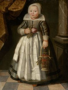 Dutch Master —  Portrait of a Girl in Frisian Costume Holding a Rose and a Basket of Cherries,  Second Quarter 17th Century : Museum of Fine Arts, Boston.  USA  (760x1000)