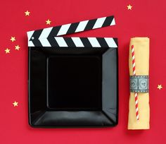 cute DIY details for a movie party