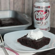Dr Pepper Brownies