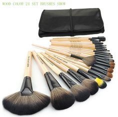 Find More Makeup Brushes & Tools Information about Brushes Makeup 24pcs set 3color Brushes set tools portable full Cosmetic brush tools makeup accessories,High Quality brush container,China brush liner Suppliers, Cheap brush track from N&S Beauty Star Co. LTD on Aliexpress.com