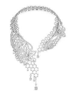 Piaget's new Precieuse Couture collection reinvents laces & corsets. Drape this scintillating one across your neck! http://www.luxuryfacts.com/index.php/sections/article/3546