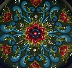 Rogaland style Rosemaling for new tattooo Tole Painting, Painting On Wood, Rosemaling Pattern, Norwegian Rosemaling, Scandinavian Folk Art, Arte Popular, Painting Patterns, Art Lessons, Art Decor