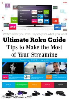 Ultimate Roku Guide: Tips to Make the Most of Your Streaming with Roku Players and Roku Stick. Plus look at Roku 4 that was recently released. Tv Hacks, Netflix Hacks, Cable Tv Alternatives, Tv Options, Streaming Stick, Cinema Tv, Accessoires Iphone, Smartphone, Internet Tv