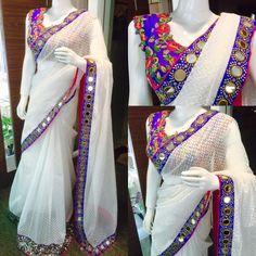 Beautiful Saree collections from Mugdha art studio.