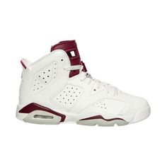 Boys' Grade School Air Jordan Retro 6 Basketball Shoes ($160) ❤ liked on Polyvore featuring shoes, sneakers and jordan