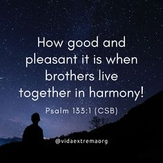 How good and pleasant it is when brothers live together in harmony! Christian Images, Christian Quotes, Psalm 133 1, Living Together, Bible Verses, Inspirational Quotes, Calligraphy, Social Media, Thoughts