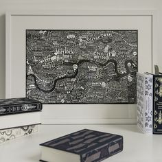 This limited edition art print is an intricate typographic map of london, teeming with fictional characters from the capital's literary past and present.A hand-drawn illustrated graphic map of London featuring characters from the pages of novels. The famous and infamous, and also the less well known! Those with an amazing moniker or brilliantly conceived nickname who are a credit to their creator. Each character has been plotted in the corners of the city they most liked to ...