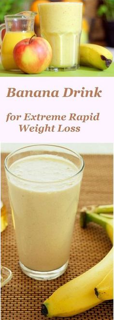 Banana Drink for Extreme Rapid Weight Loss is part of Weight loss smoothies - Want to get rid of several pounds of excess tummy that make you big and fat Start once a day to drink this delicious banana smoothie! Healthy Detox, Healthy Smoothies, Healthy Drinks, Healthy Eating, Detox Foods, Healthy Snacks, Green Smoothies, Breakfast Smoothies, Apple And Banana Smoothie