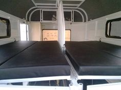 Fold down beds in horse area