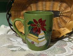 CHRISTMAS BELLS Hand-decorated Coffee Mug