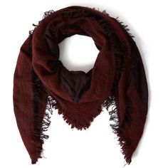 Faliero Sarti Red Isidora Textured Border Cashmere-Blend Scarf (6.139.325 IDR) ❤ liked on Polyvore featuring accessories, scarves, faliero sarti scarves, thick scarves, evening shawl, red shawl and faliero sarti
